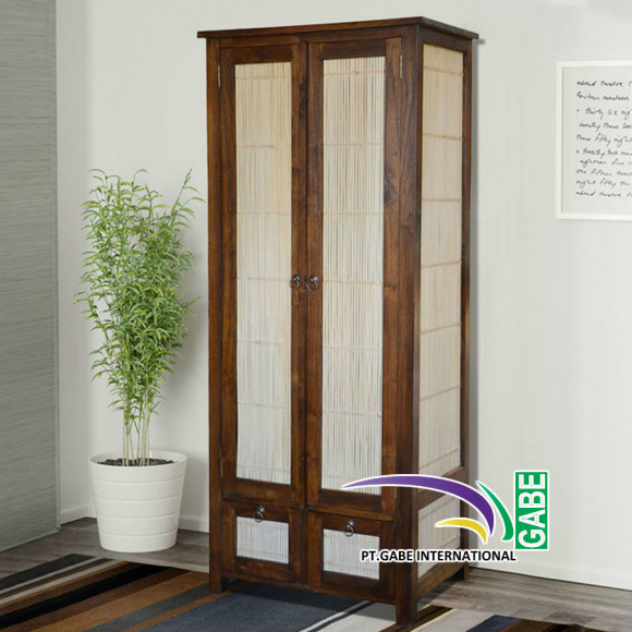 ID05787---CABINET-MINIMALIS-COMBINATION-TEAK-AND-BAMBOO_1
